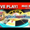 LIVE PLAY! Rock Around the Clock Slot – MAX BET!! – MEGA PROGRESSIVE WIN! – Slot Machine Bonus