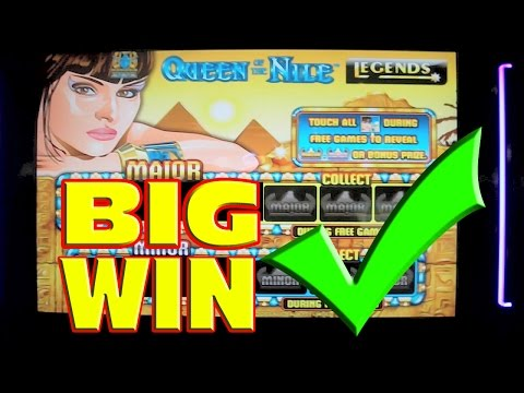 Queen of the Nile * MEGA BIG WIN * Slot Machine Progressive Bonus