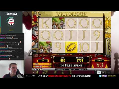 SUPER MEGA WIN On Victorious Slot   0 50 Bet