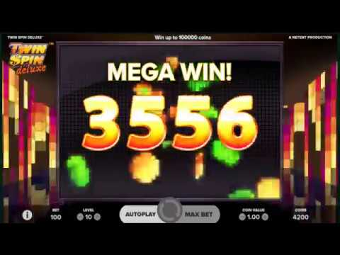 SUPER MEGA WIN On Twin Spin Deluxe Slot Machine From NetEnt