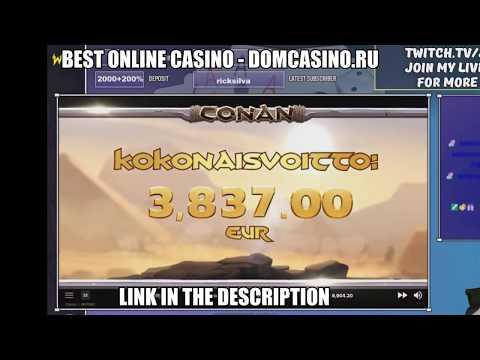 €3,837.00 Mega Big Win From Conan Slot!!! Online Casino