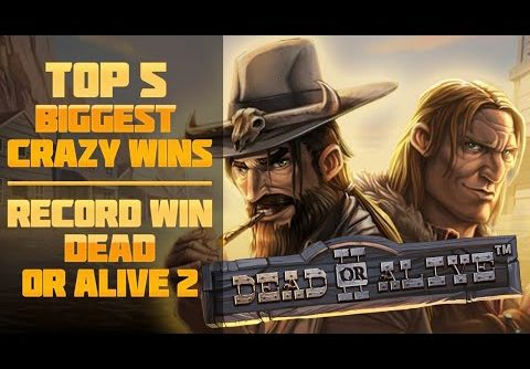 Top 5 Biggest crazy wins | Record win on slot Dead or Alive 2