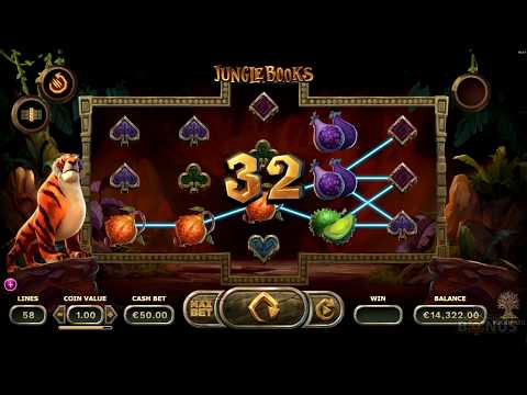 Jungle Books Slot -BIG WIN – Game Play – by Yggdrasil