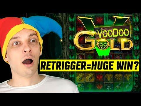 VOODOO GOLD SLOT BONUS, RETRIGGER, BIG WIN?