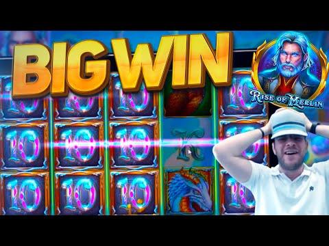 NEW SLOT – RISE OF MERLIN BIG WIN!!