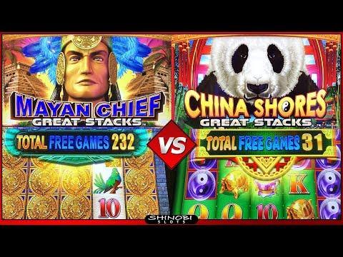 Mayan Chief vs China Shores Great Stacks Slots – Big WIn Bonuses