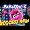 RECORD WIN!!! Reactoonz Big win – Casino – Online slots – Jackpot