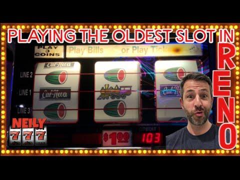 I FOUND THE OLDEST SLOT MACHINE IN RENO @ CAL NEVA 🐉 DRAGON LINK BIG WIN 🐉 Slots w/ NEILY777