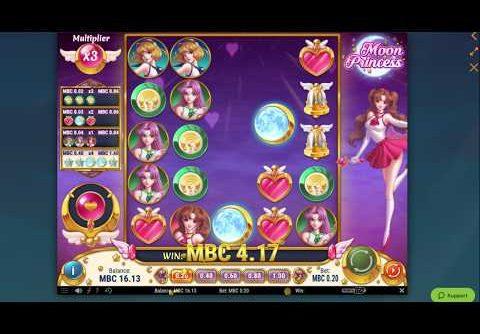 Moon Princess Online Casino Slot Bonus Game Big Win!