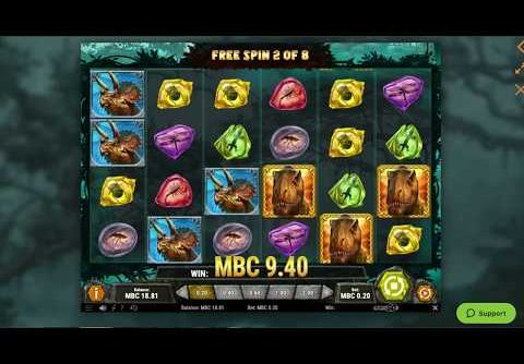 Raging Rex Big Win Bonus Game Online Casino Slot!