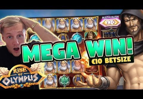 MEGA WIN! Rise of Olympus BIG WIN – 10 euro bet – Huge win from Casino LIVE stream