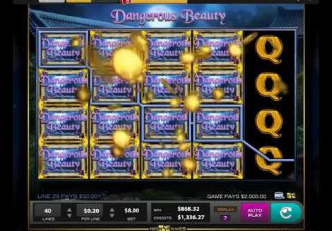 Slot – Dangerous Beauty – $8 Line Hit – Almost Another Jackpot! – MEGA WIN!