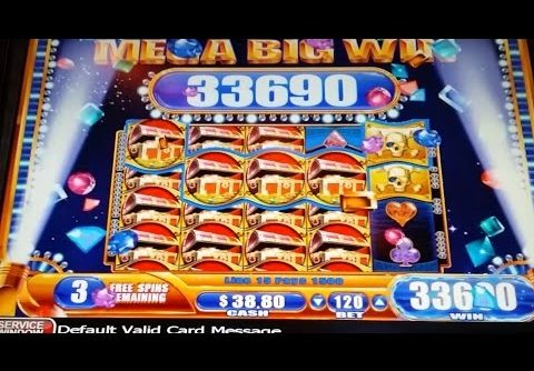 MEGA BIG WIN! Pirate Ship Slot Machine 1 LINE HIT & 2 BONUSES