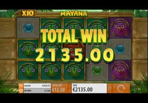 €2135 Mega Win on new Mayana Slot!