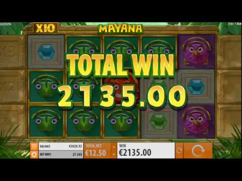 €2135 Mega Win on new Mayana Slot!