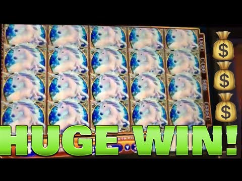 FULL SCREEN MEGA WIN!!! MYSTICAL UNICORN SLOT MACHINE!!!
