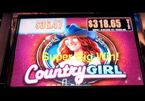Super Big Win! Country Girl Slot Machine Bonus-with Albert!