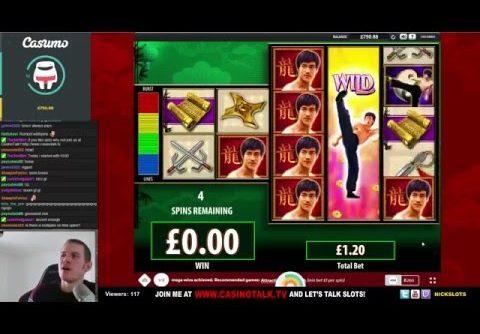 SUPER MEGA WIN On Bruce Lee Slot – £1.20 Bet