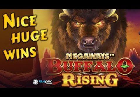 Nice huge wins on Buffalo Rising Megaways slot. Blueprint Gaming