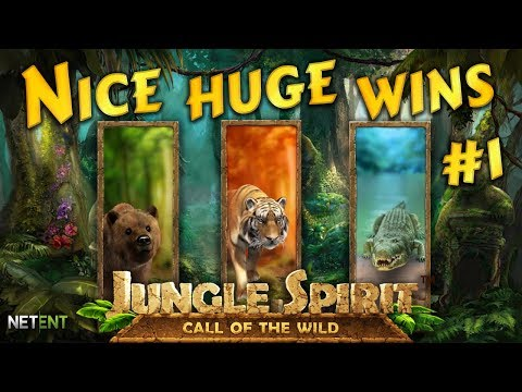 Nice huge wins on Jungle Spirit slot #1. NetEnt