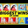 SLOTS BIGGEST WINS OF JUNE! CASINO STREAM HIGHLIGHTS