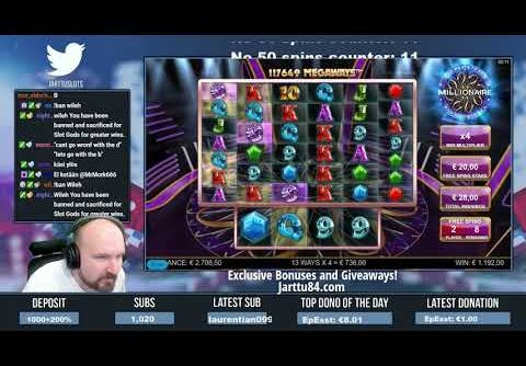Nice Win From Who Wants To Be A Millionaire Slot!!