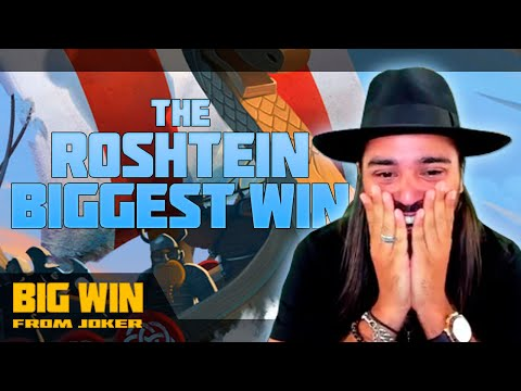 The Roshtein biggest win in slot machines and vivid emotions