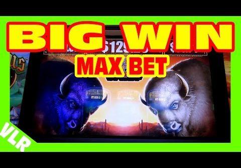 Double Buffalo Spirit – MAX BET BIG WIN – Slot Machine Bonus + RETRIGGERS