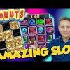 DONUTS BIG WIN from LIVE STREAM – Casino Games – Bonus Round (slots)