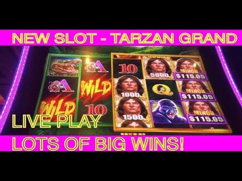 TARZAN GRAND – new slot.  Lots of Live Play & Big Wins!