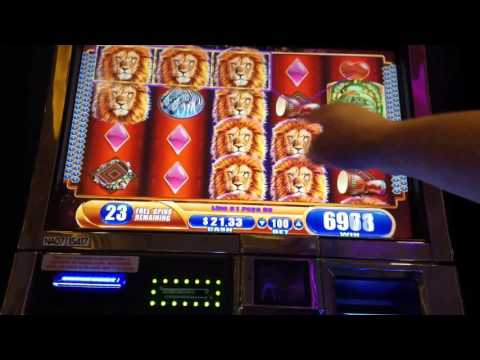 50 FREE GAMES! KING Of AFRICA Slot Machine BONUS!! Big Win!!!