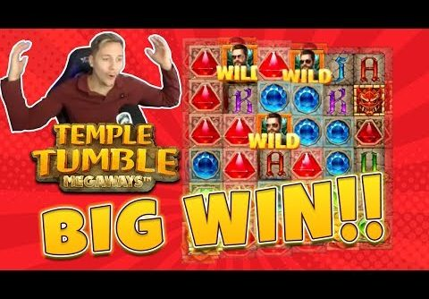 BIG WIN Temple Tumble Megaways – New slot from Relax Gaming – Huge win on Casino Game