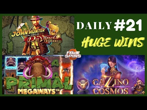 Cazino Zeppelin [Epic Win],Primal MEGAWAYS(Record Win)Da Vinci's Treasure (Big Win).Daily #21