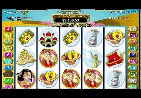 Aladdin's Wishes Online Casino Slot Mega Jackpot Win!