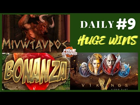 Minotaurus (Big Win), Bonanza Slot [Epic Win], Vikings Netent (Mega Win). Daily Huge Wins #9