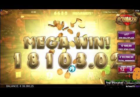 BONANZA SLOT 33.000 € MEGA WIN