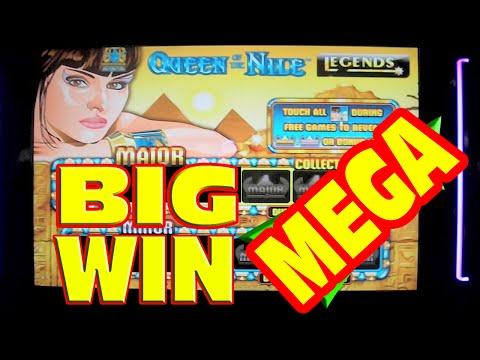 Queen of the Nile Legends – MEGA BIG WIN – Slot Machine Bonus & Progressive Win