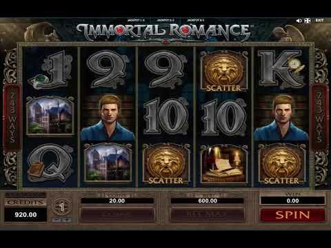 767K Jackpot Slot Machine Immortal Romance – MEGA WIN!