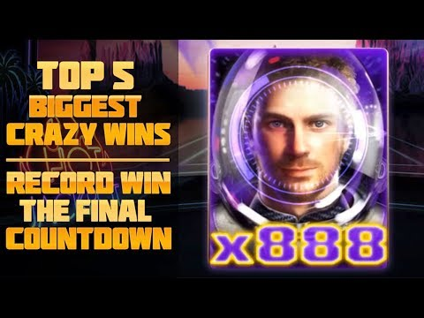 Top 5 Biggest crazy wins | Record win. The Final Countdown slot