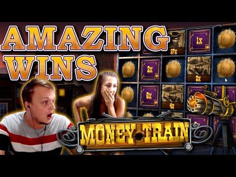MONEYTRAIN BIG WINS – SLOT GOES OFF ITS T*TS!!