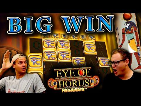 Big Win on Eye of Horus Megaways (NEW SLOT)