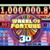 "$1 WHEEL OF FORTUNE 3D SLOT ""LIVE PLAY"" – Big Win! – Slot Machine Bonus"