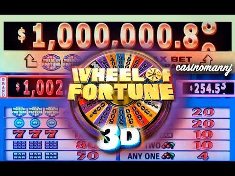 "$1 WHEEL OF FORTUNE 3D SLOT ""LIVE PLAY"" – Big Win! – Slot Machine Bonus"
