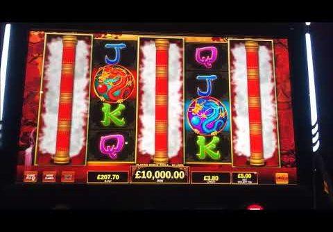 £10,000.00 JACKPOT on dragons temple slot machine £5 max bet bonus, biggest UK win on YouTube