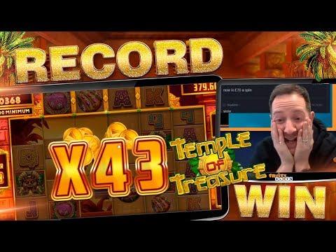 MUST SEE TEMPLE OF TREASURE INSANE BONUS!! Win Multiplier Record!!??