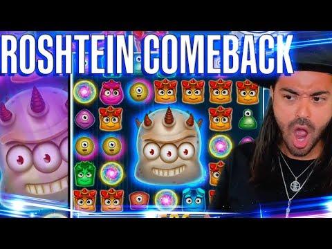ROSHTEIN Comeback on twitch – Mega Win on Reactoonz slot