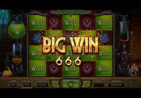€3647 Mega Win on Alchymedes Slot