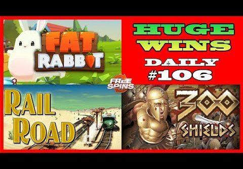 Fat Rabbit [RECORD WIN],300 Shields (BIGGEST WIN),RailRoad slot(BIG WIN) Daily #106