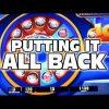 PUTTING THE BIG WIN ALL BACK – Casino Slot Machine Bonus Wins
