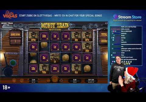 MEGA BIG WIN ON MONEY TRAIN! (BONUS BUY)